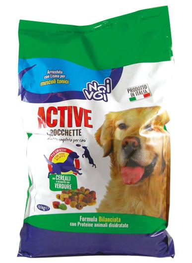 Noi&Voi Crocchette Active con cereali e insaporito con verdure 10 Kg