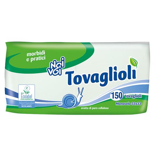 Ecolabel Tovaglioli 1 velo 33x33cm 150 pz
