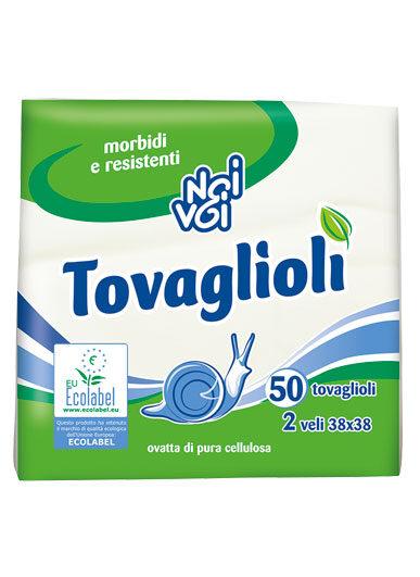 Ecolabel Tovaglioli 2 veli 38×38 cm 50 pz