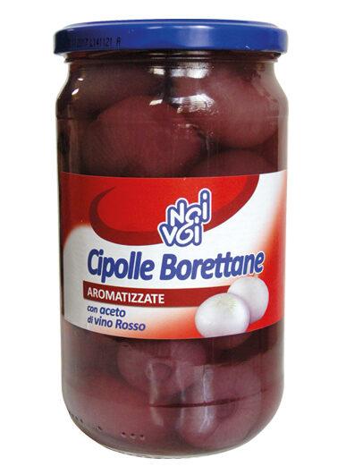Cipolle Borettane aromatizzate con aceto di vino 565 g / 580 ml