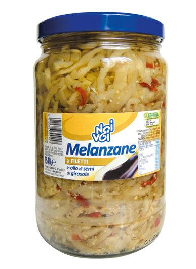Melanzane a filetti in olio di semi di girasole 1540 g