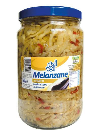 Melanzane a filetti in olio di semi di girasole 1540 g