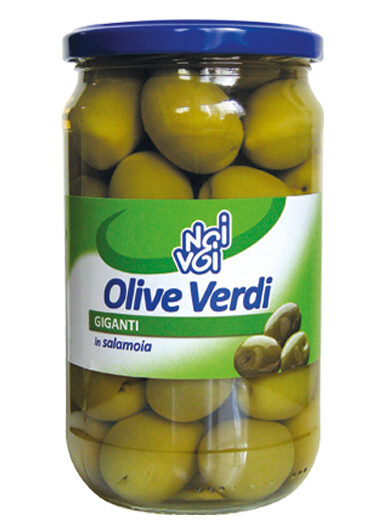 Olive verdi giganti in salamoia 545 g /580 ml
