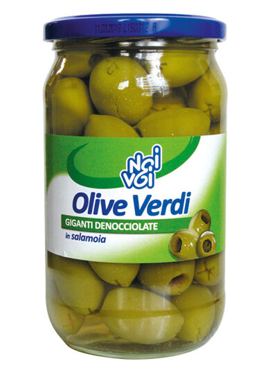 Olive verdi giganti denocciolate in salamoia 545 g /580 ml