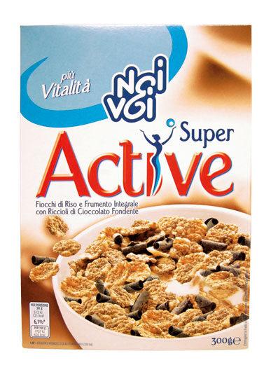 Super Active con Riccioli di Cioccolato Fondente 300 g