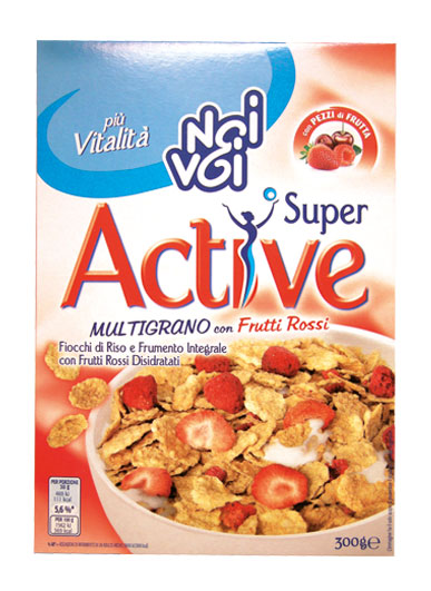 Super Active Multigrano con Frutti Rossi 300 g