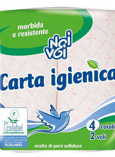 Ecolabel Carta Igienica 2 veli 4 rotoli