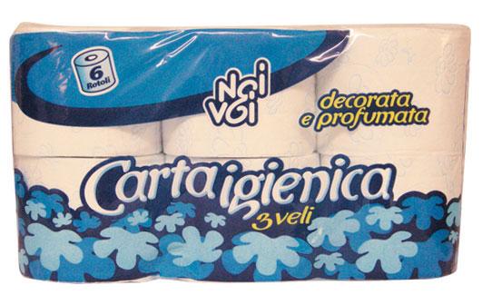 Carta Igienica decorata 6 r.