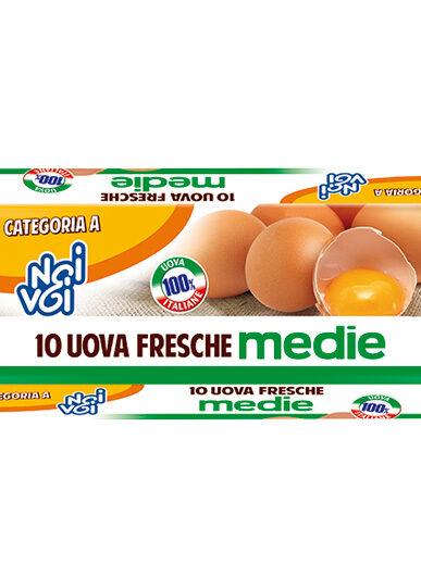 10 Uova fresche M – gabbia