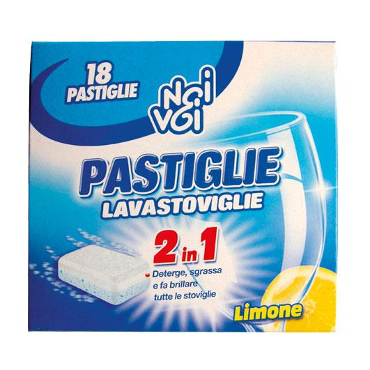 18 Pastiglie Lavastoviglie 2 in 1 Limone 324 g