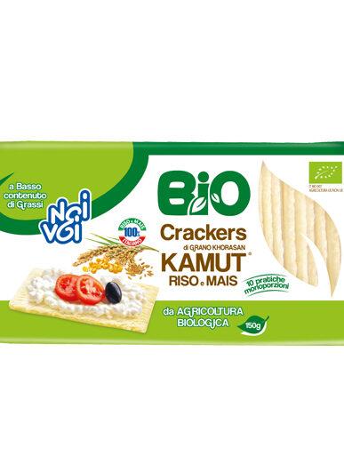 Crackers di grano Khorasan Kamut® Riso e Mais BIO 150 g