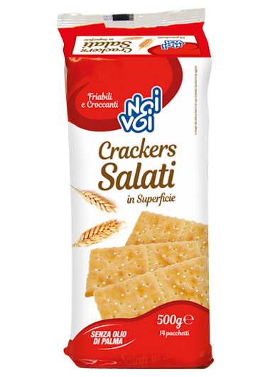 Crackers Salati in superficie 500 g