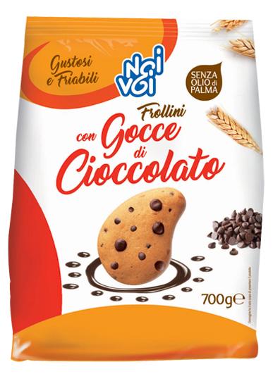 Frollini con Gocce di Cioccolato 700g