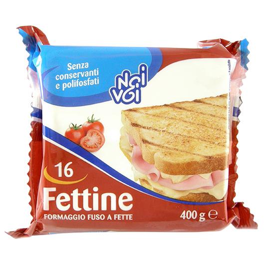 16 Fettine formaggio fuso a fette 400 g