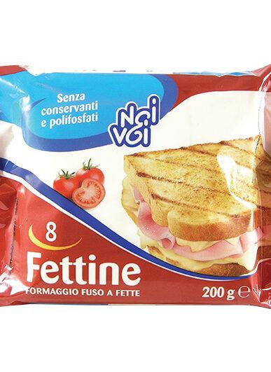 8 Fettine formaggio fuso a fette 200 g