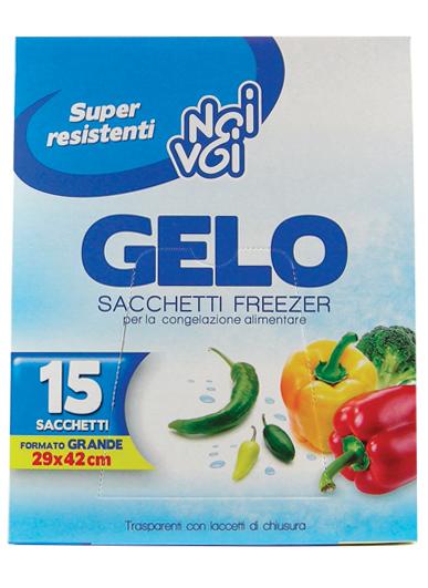 Gelo 15 sacchetti freezer f.to Grande