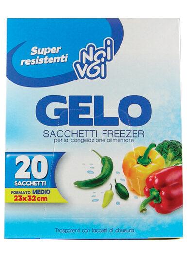 Gelo 20 sacchetti freezer f.to Medio