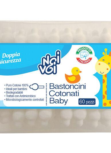 Bastoncini Cotonati Baby 60 pezzi