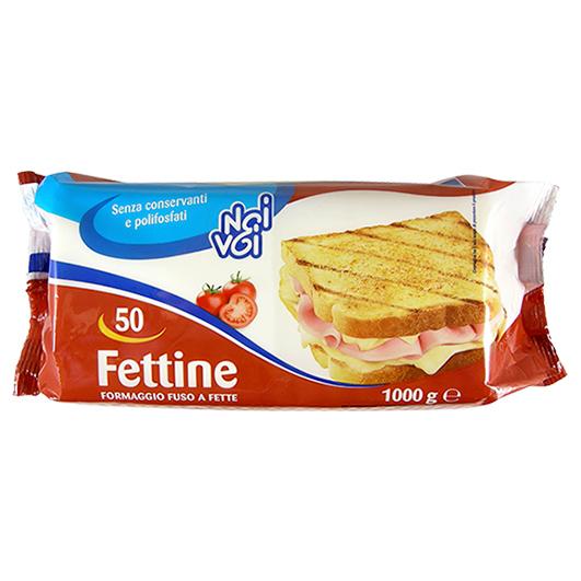 50 Fettine formaggio fuso a fette 1000g