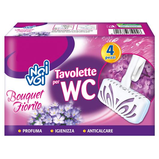Tavolette per WC Bouquet Fiorito 4 x 34 g